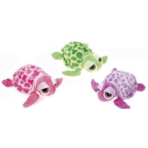 "8"" 3 Asst. Color Glittered Big Eyed Turtle"
