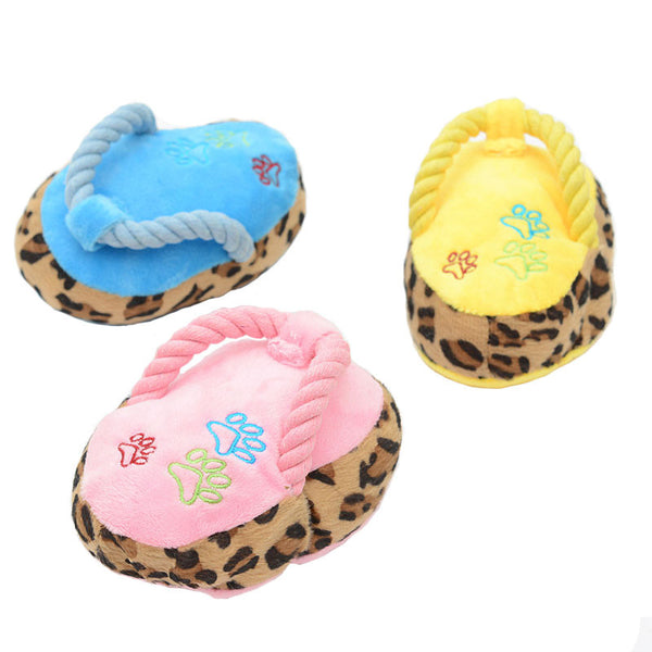 Flip Flop Dog Squeaker Chew Toy