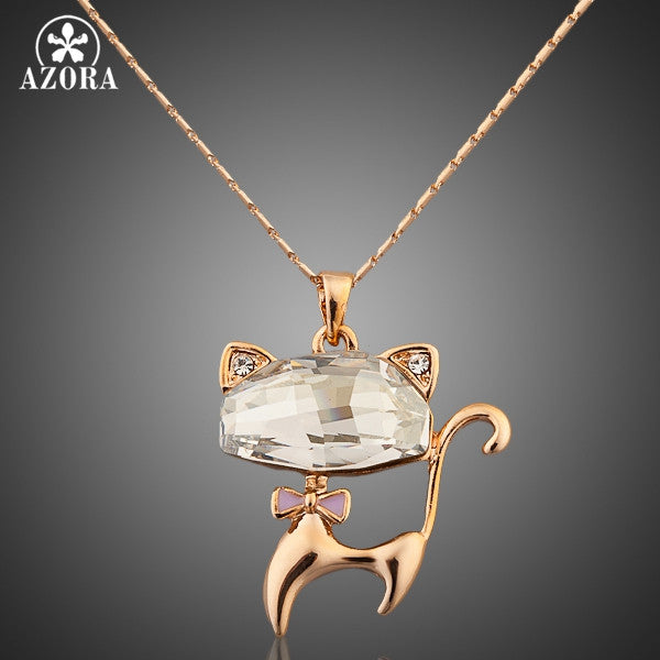 Cat Gold Pendant Necklace
