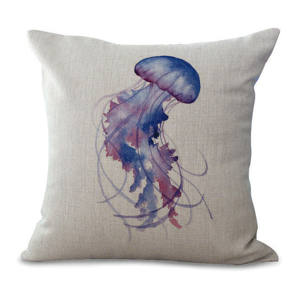 Pillow Cases with Jellyfish, Whale, Seahorse, Fish, etc