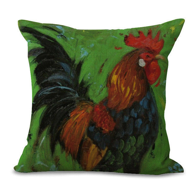 Roosters Pillow Case