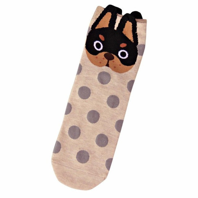 Socks with Dogs and Circles