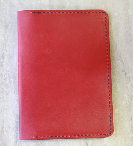 Red Passport Holder with Rounded Edges