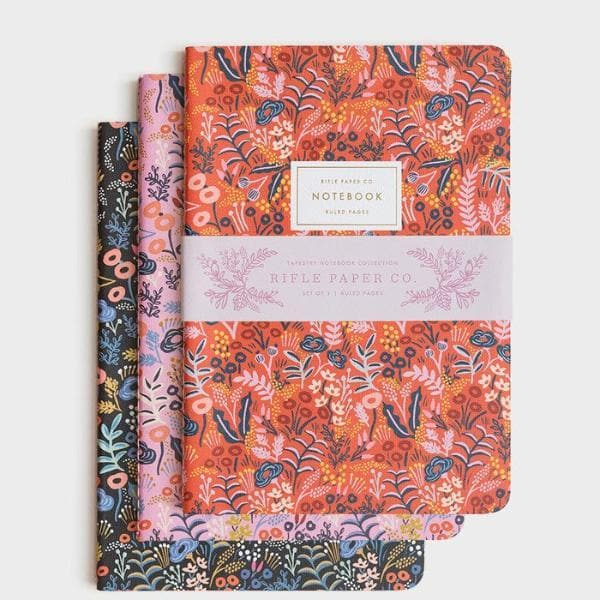Rifle Paper Co - 3 Stitched Notebooks - Tapestry