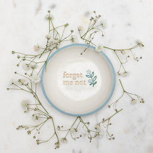 Exclusive Forget Me Not Dish