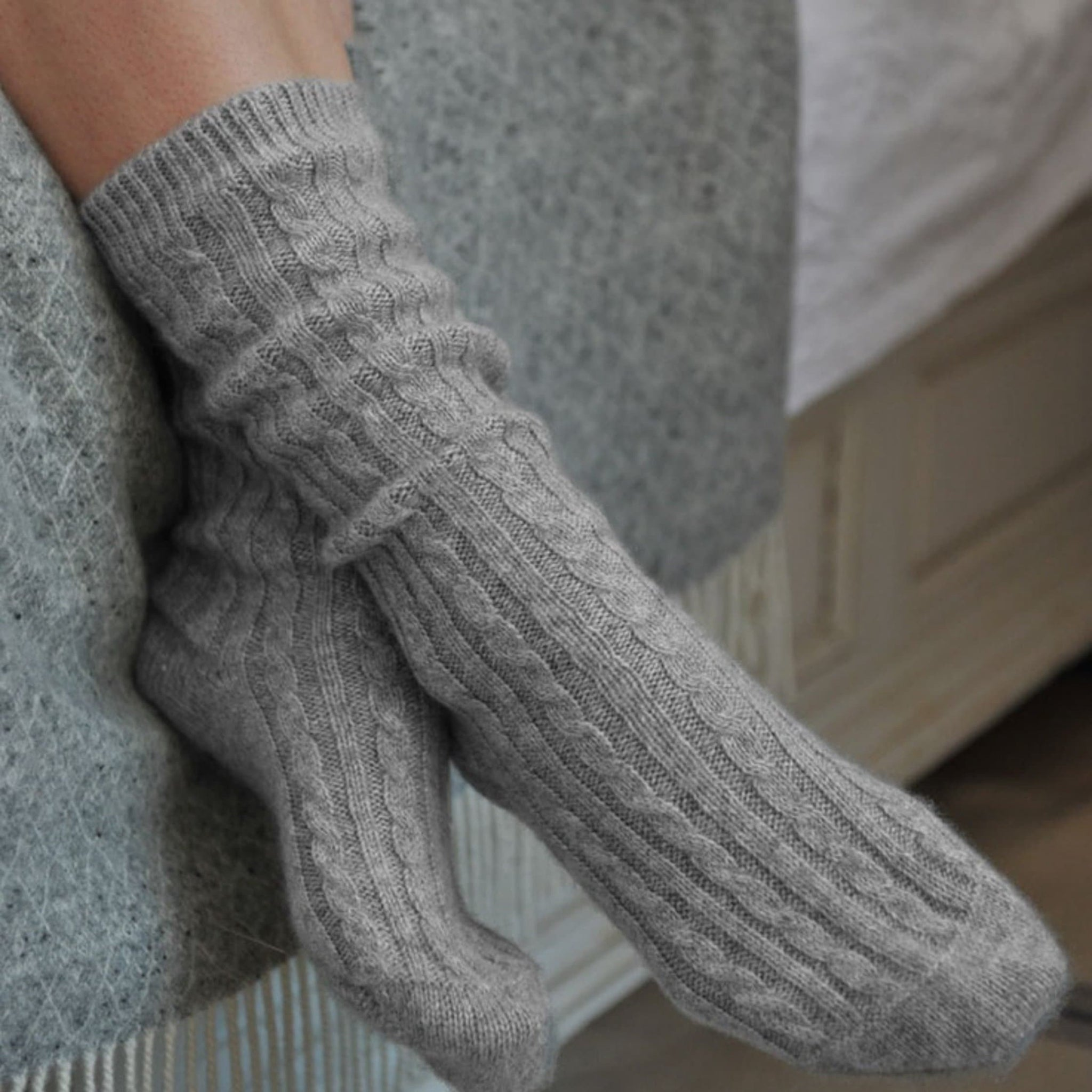 Gathered By TCO 100% Cashmere Socks
