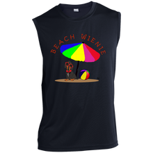 Beach Wienie Dachshund Sleeveless Performance T-Shirt - Beach Wienie