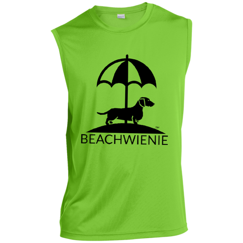 Beach Wienie Logo Men's Sleeveless Performance T-Shirt - Beach Wienie