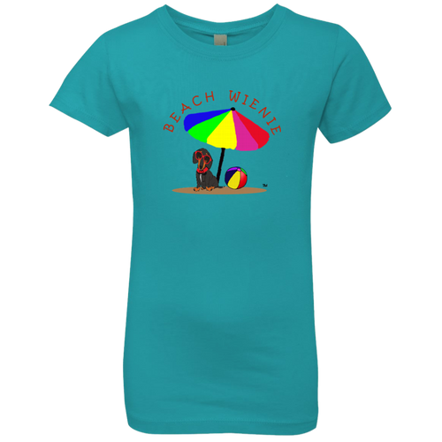 Beach Wienie Original Art Girls' Princess T-Shirt - Beach Wienie