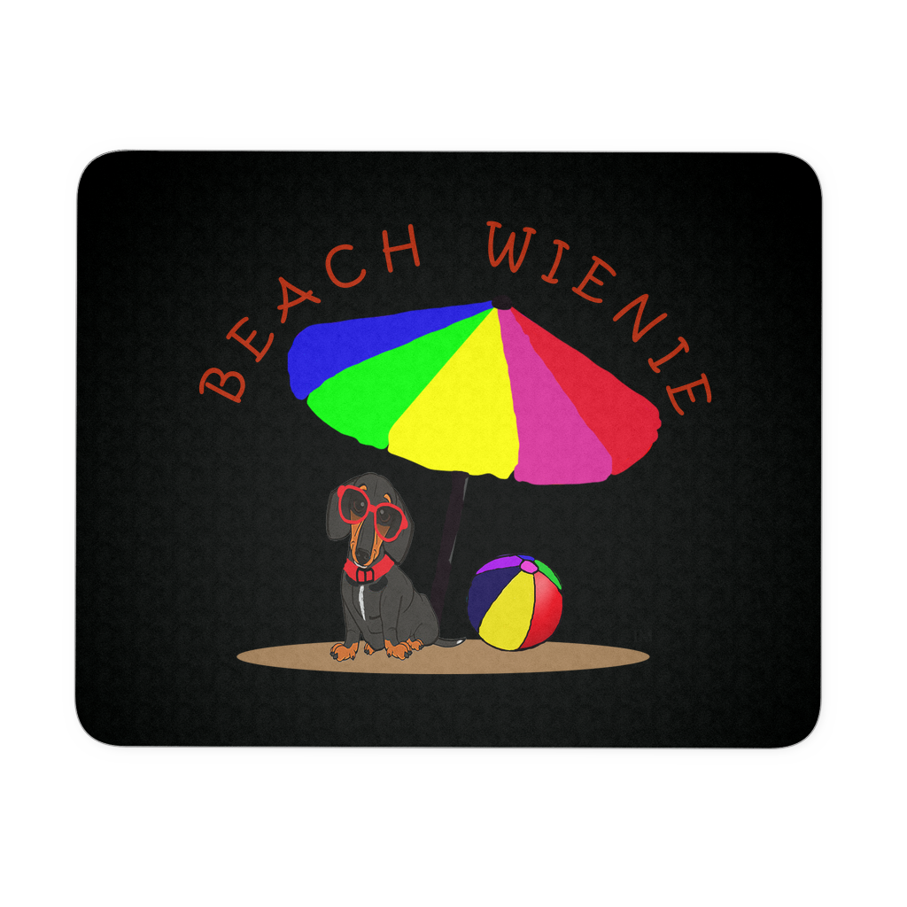 Beach Wienie Original Art Mousepad Black - Beach Wienie