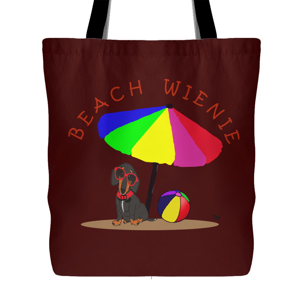 Beach Wienie Original Art Tote Brown - Beach Wienie