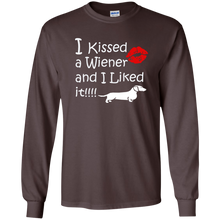 I Kissed a Wiener LS Ultra Cotton T-Shirt - Beach Wienie
