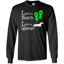 Life's a Beach LS Ultra Cotton T-Shirt - Beach Wienie