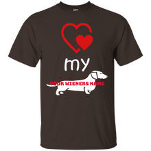 Love my Wiener Ultra Cotton T-Shirt (Personalized) - Beach Wienie
