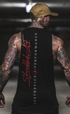 Signature - Longline Muscle Tank top - Black / Red