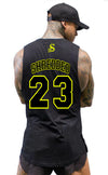 BALLER- Basketball Muscle Tank top - Black/Yellow