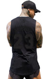 BALLER- Basketball Muscle Tank top- Stealth - Black/Black