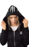 Infamous Hoodie - Unisex Zip up - BLACK - Stay Shredded
