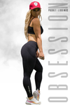 Obsession Pocket Legging 7/8 - BLACK - Stay Shredded
