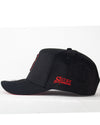 Premium OFFICIAL SHREDDED A-frame Hat Cap - Black Widow - Black / Red