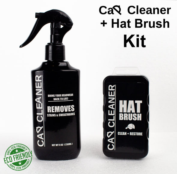 Cap Cleaner Spray + Hat Brush kit