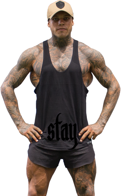CONTRAST T-BACK - Stealth - Stay Shredded