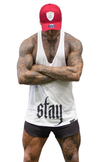 CONTRAST T-BACK - White - Stay Shredded