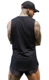 ICON - Longline Muscle Tank - Black - Stay Shredded