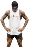 Slash Muscle Tank - White