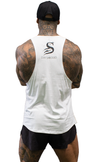 Slash Muscle Tank - White - Stay Shredded