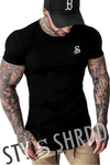 Stay Shredded Muscle Tee - Black
