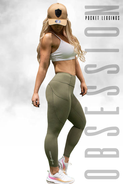 Obsession Pocket Legging 7/8 - Khaki