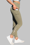 Obsession Pocket Legging 7/8 - Khaki - Stay Shredded