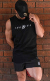 ICON - Longline Muscle Tank top - Black