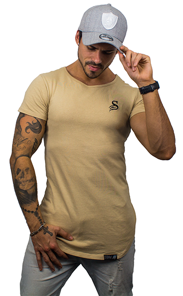 Stay Shredded Muscle Tee - Tan