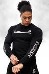 STY SHRDD - LONGSLEEVE TRAINING TEE - BLACK