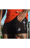 Quads of the Gods - SLASH - LIFT SHORTS gym bodybuilding Lifting short - BLACK / WHITE