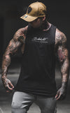 Signature - Longline Muscle Tank top - Black / White