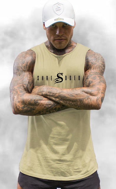 ICON - Longline Muscle Tank top - Beige