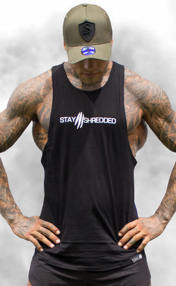Slash Muscle Tank - Black