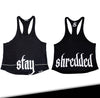 CONTRAST T-BACK SINGLET - Black - Stay Shredded
