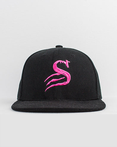 Thug Flat Brim Snapack - Black Pink - Stay Shredded