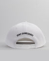 Thug Flat Brim Snapack - White - Stay Shredded