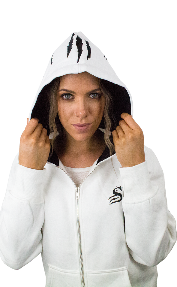 Infamous Hoodie - Unisex Zip up - ARCTIC - Stay Shredded