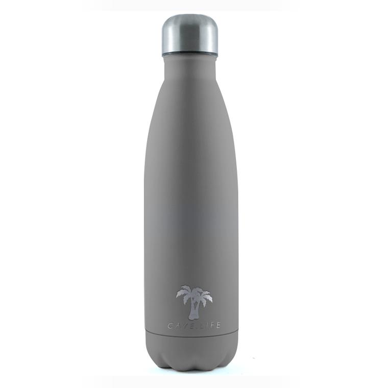 Insulated Drink Bottle - Matte Grey (2 sizes available)