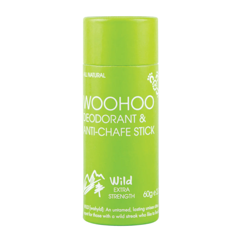 NEW ECO-TUBES! - Woohoo Deodorant & Anti-Chafe Stick (Wild) 60g