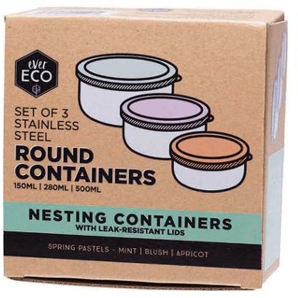 Round Nesting Containers - Set of 3