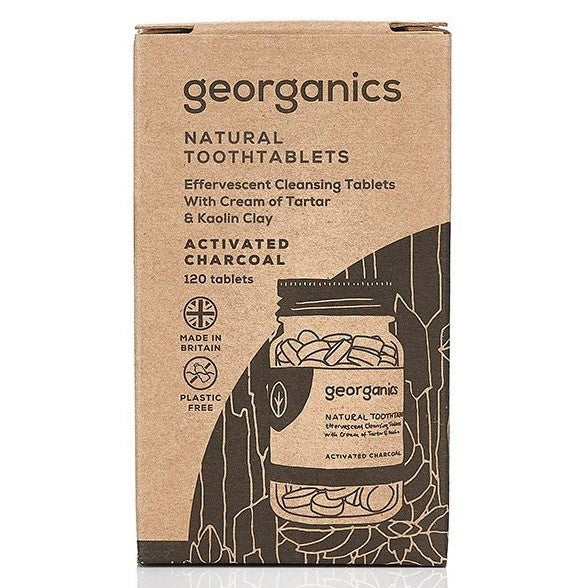 Georganics Activated Charcoal Toothtablets ~ 120 tablets