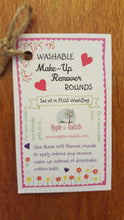 Washable Makeup Remover Rounds (Set of 14 Plus Washbag) - Apple & Radish