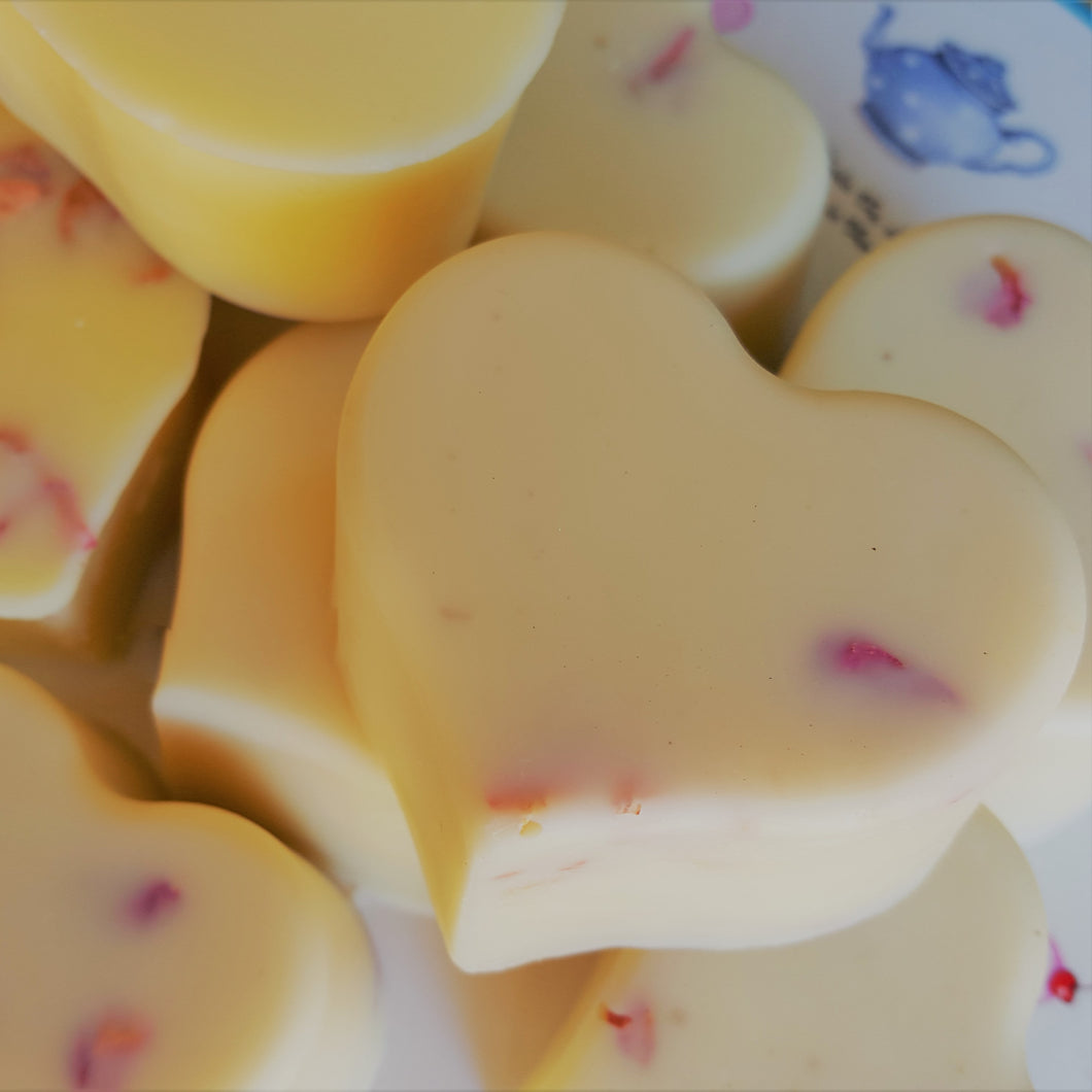 Rose Petal Body Lotion Bar - Apple & Radish